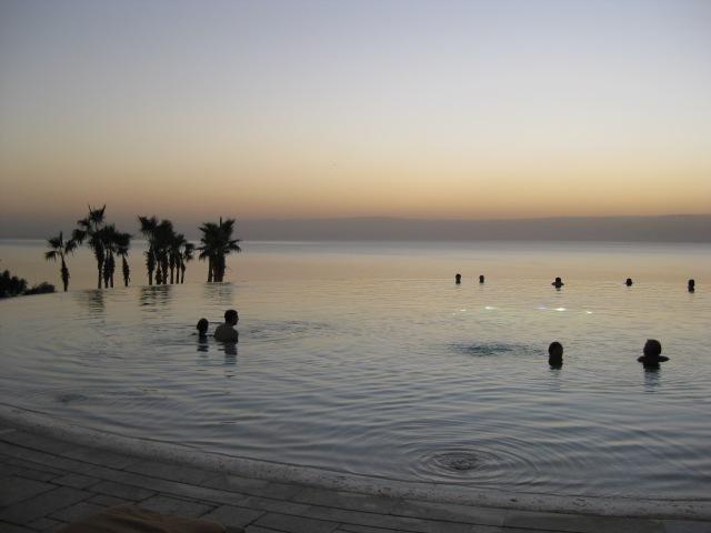The Infinity Pool at the Kempinski hotel Jordan, on the Dead Sea