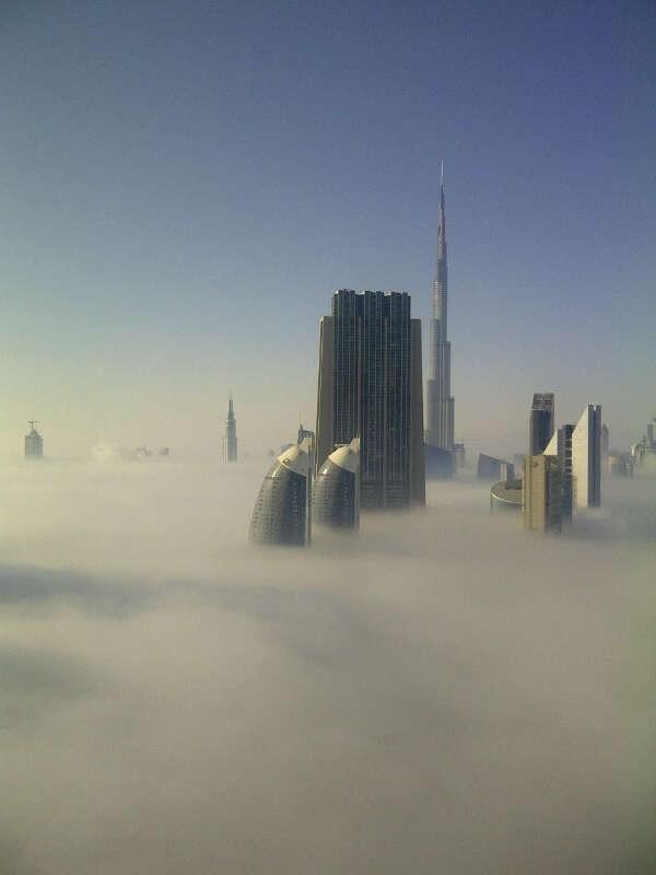 dubai fog - fog covered Dubai.