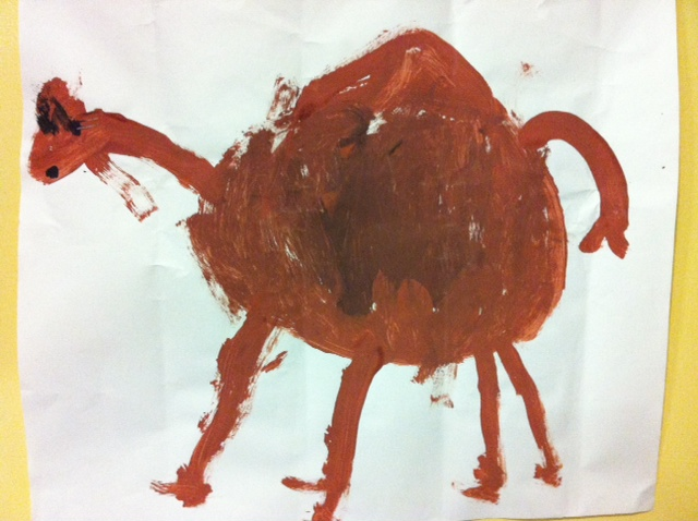 At LB's school they've been learning about the UAE for a few weeks now. I love listening to the class counting in Arabic and naming the seven emirates. I also thought this camel he painted was rather cute!
