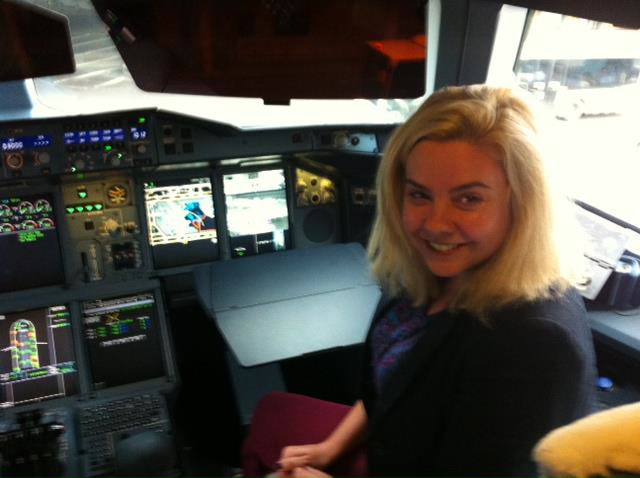 A rare personal photo, on the ground in London. Seriously, I was terrified my bum would accidentally press a button!
