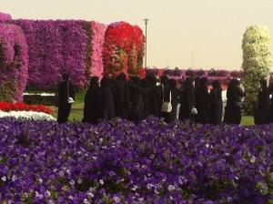 Female Emirati students on a field trip