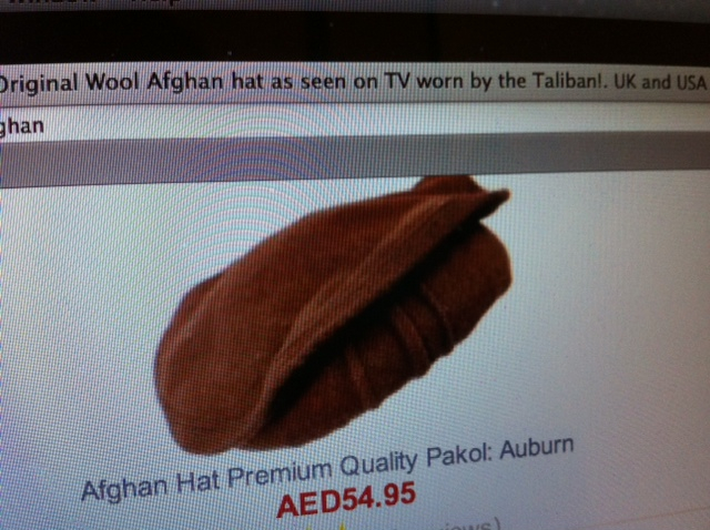 Thank you to my  friend, who came across this while researching the name of the hat worn by Afghan men for an article (pakol, in case you wanted to know)