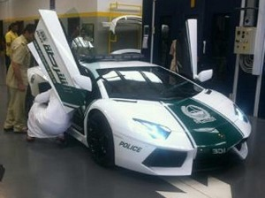 New toy: Lamborghini launched the car being added to theDubai Police fleet this year to celebrate its 50th anniversary