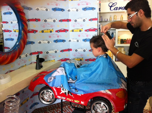 Located in Dubai's Motor City, this salon is totally geared up for car-mad little boys.