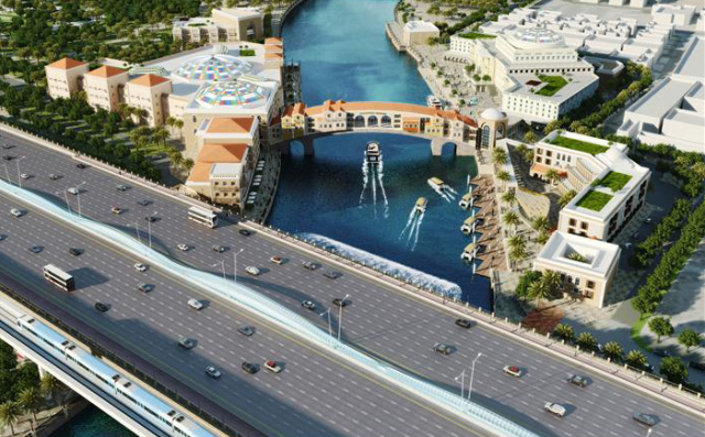 Dubai takes on Venice: The AED1.7bn Dubai Water Canal Project will excavate a 2.5 kilometre canal connecting Business Bay to the Gulf ( running under Sheikh Zayed Road)