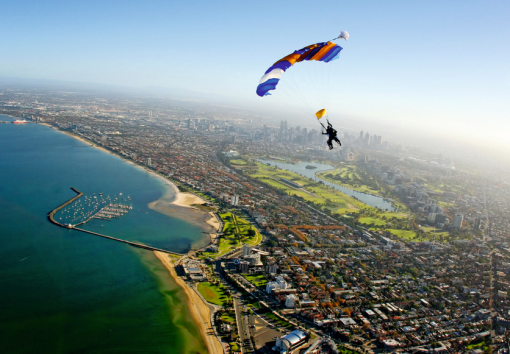 Melbourne, a city of skyscrapers, famous sporting venues, wrought-iron lacework terrace houses, trams and the stunning Royal Botanic Gardens, is situated at the head of Port Phillip Bay, at the mouth of the Yarra River