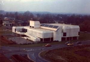 Demolished years ago, this is a photo of my local town's Soviet bloc-style masterpiece – aka, the swimming pool, which we had to walk a mile to from primary school. Yes, WALK TO, Son1!