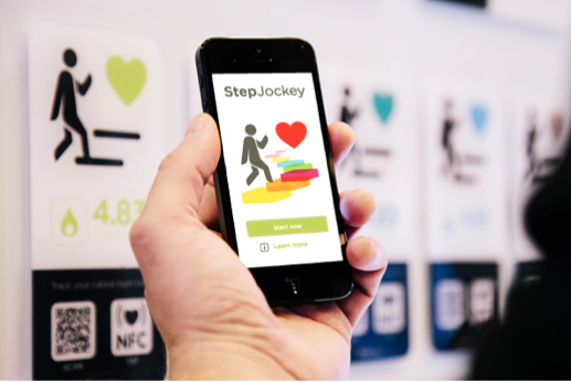 """A brand new feature is the English/Arabic smart-signs that 'nudge' people to climb stairs instead of using the lifts. The high-tech mounted screens display the exact calorie-burn for each stairway and give motivational health messages. KHDA workers can then track, 'gamify' and share their stair-climbing performance using a smartphone app. """"The only better stairs I've seen are at Dewa (Dubai Electricity & Water Authority),"""" our guide said. """"They're surrounded by mirrors, and by the time you get to the top you look like Kate Moss."""""""