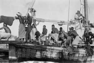 Crews lived on board in incredibly cramped conditions for weeks at a time. Photo credit: National Maritime Museum, via BBC