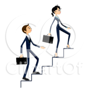 Stair-climbing definitely worked for these two stick people