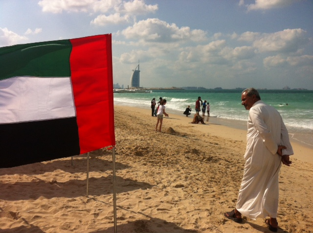 If you go down to the beach today … you might just come across a thousand flags