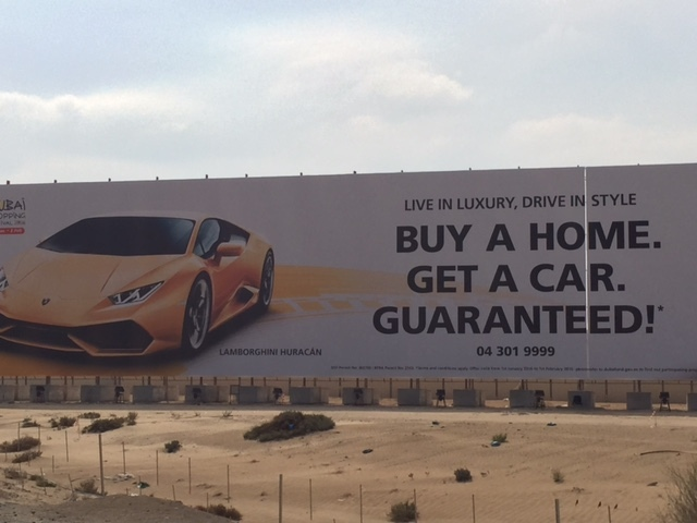 Yes, that is a Lamborghini pictured. Only in Dubai!