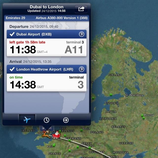 Our flight on FlightTracker!