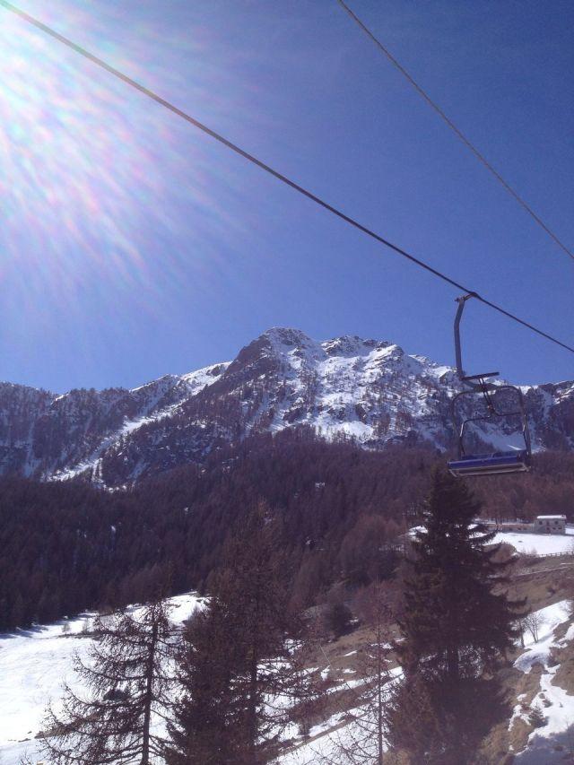 Skiing in the Italian Alps